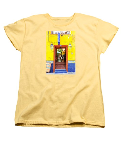 Women's T-Shirt (Standard Cut) featuring the photograph Hotel Estancia - Ajijic - Mexico by David Perry Lawrence