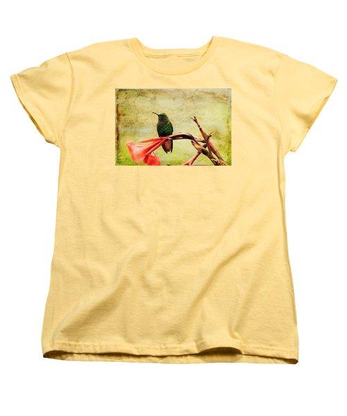 Women's T-Shirt (Standard Cut) featuring the photograph Hummingbird 1 by Teresa Zieba