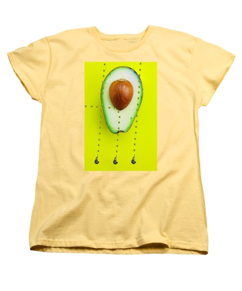 Women's T-Shirt (Standard Cut) featuring the photograph Hunters Depicting Rutherford Atomic Model By Avocado Food Physics by Paul Ge