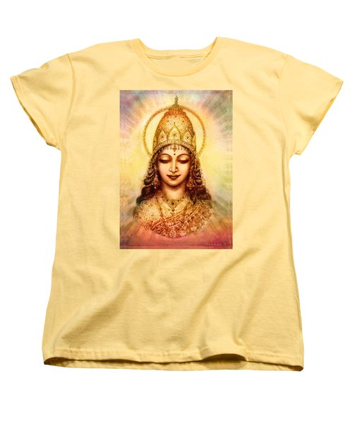 Women's T-Shirt (Standard Cut) featuring the mixed media I Abide In My Own Blissful Self by Ananda Vdovic