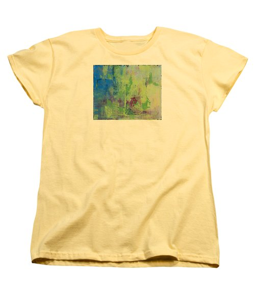 Curious Yellow Women's T-Shirt (Standard Cut) by Lee Beuther