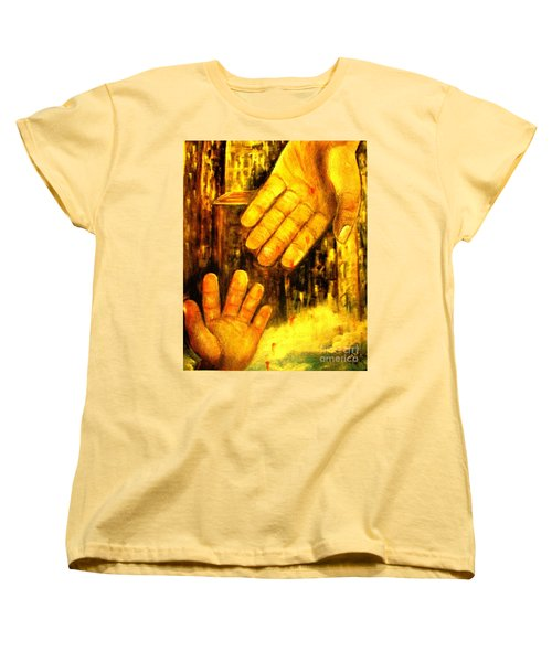 Women's T-Shirt (Standard Cut) featuring the painting I Chose You by Hazel Holland