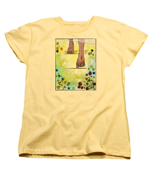 Women's T-Shirt (Standard Cut) featuring the painting I Knock by Cassie Sears