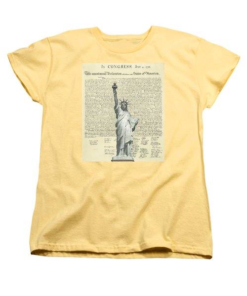 Icon Of Freedom Women's T-Shirt (Standard Cut) by Charles Beeler