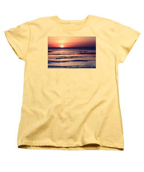 Women's T-Shirt (Standard Cut) featuring the photograph Icy Sunrise by Jennifer Casey