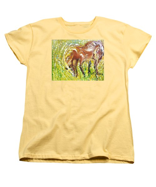 In The Field Women's T-Shirt (Standard Cut) by Evelina Popilian