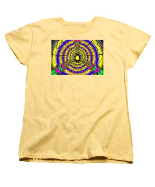 Women's T-Shirt (Standard Cut) featuring the drawing Infinity Gateway Nine by Derek Gedney