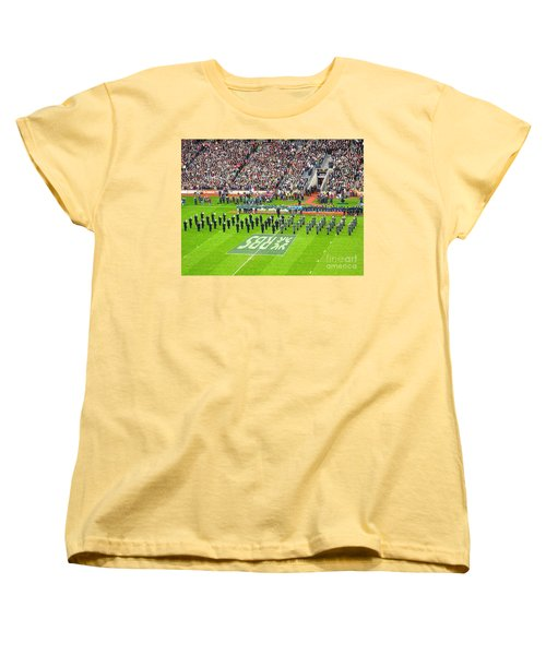 Women's T-Shirt (Standard Cut) featuring the photograph Ireland Vs France by Suzanne Oesterling