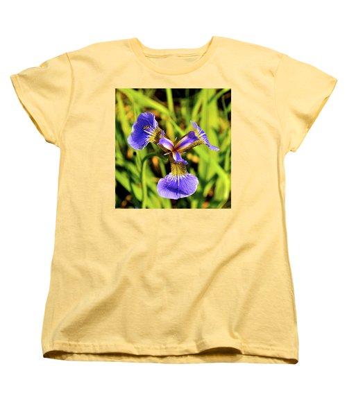 Women's T-Shirt (Standard Cut) featuring the photograph Iris by Cathy Mahnke