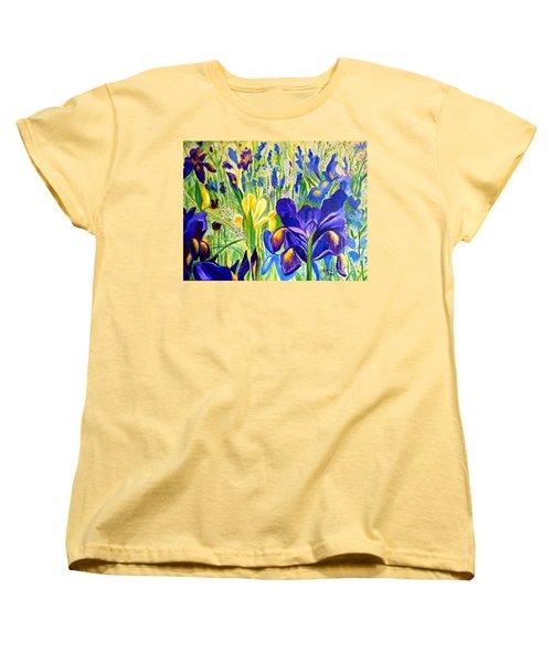 Iris Spring Women's T-Shirt (Standard Cut) by Julie Brugh Riffey