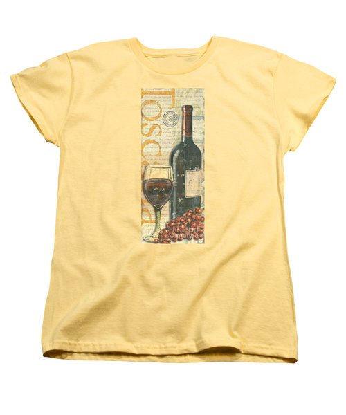 Italian Wine And Grapes Women's T-Shirt (Standard Cut) by Debbie DeWitt