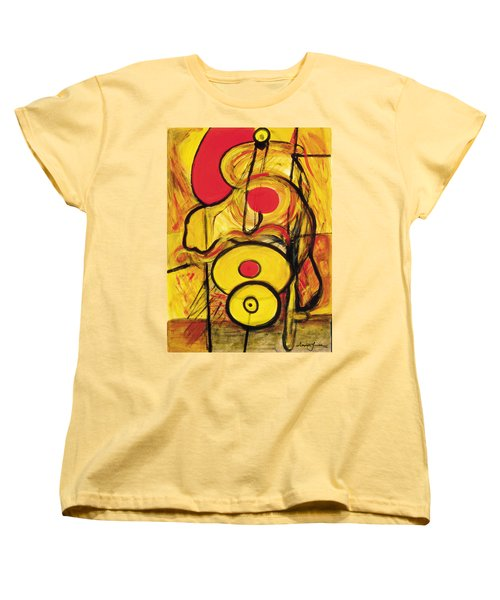 Women's T-Shirt (Standard Cut) featuring the painting It's All Relative by Stephen Lucas