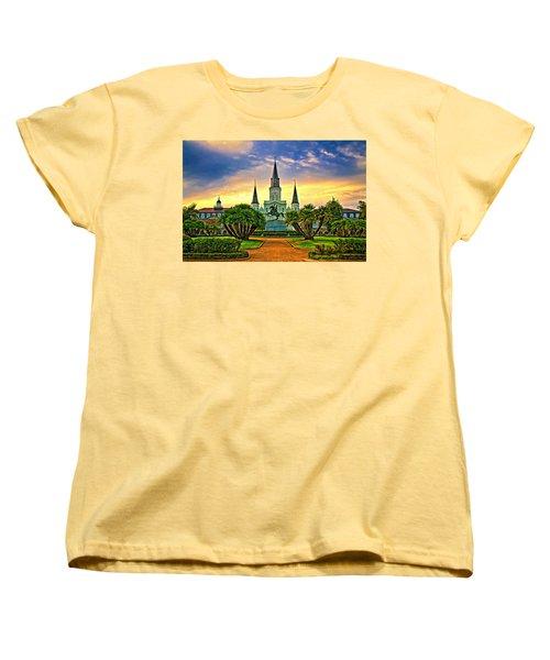 Jackson Square Evening - Paint Women's T-Shirt (Standard Cut) by Steve Harrington