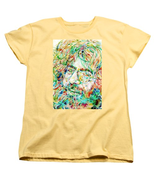 Jerry Garcia Watercolor Portrait.1 Women's T-Shirt (Standard Cut)