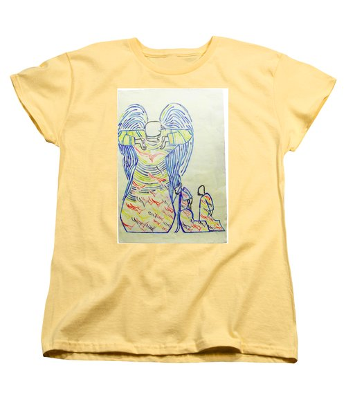 Jesus Guardian Angel Women's T-Shirt (Standard Cut) by Gloria Ssali