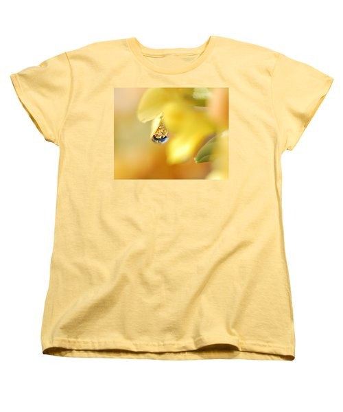 Just A Drop Of Spring Women's T-Shirt (Standard Cut) by Susan Capuano