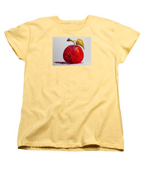 Kaleidoscope Apple -- Or -- Apple For The Teacher  Women's T-Shirt (Standard Cut) by Eloise Schneider