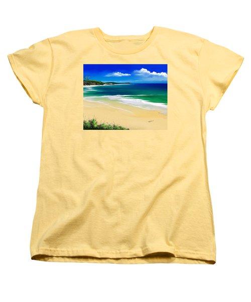 Kauai Beach Solitude Women's T-Shirt (Standard Cut) by Anthony Fishburne