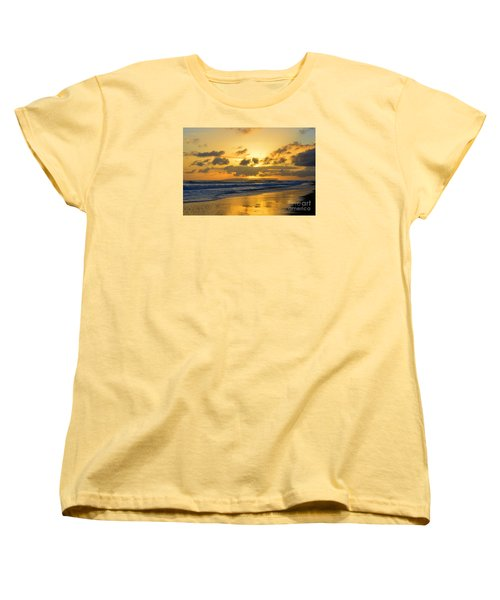 Kauai Sunset With Niihau On The Horizon Women's T-Shirt (Standard Cut)