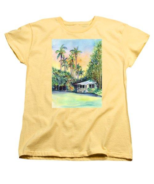 Kauai West Side Cottage Women's T-Shirt (Standard Cut) by Marionette Taboniar