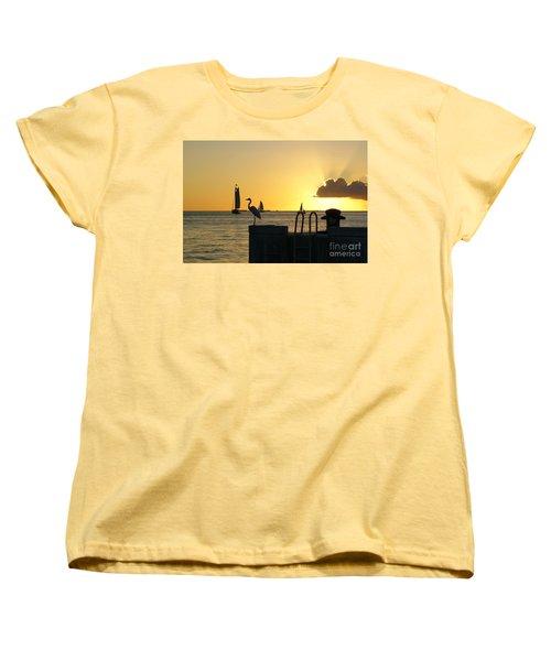 Women's T-Shirt (Standard Cut) featuring the photograph Key West Sunset by Olga Hamilton
