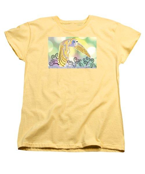 Women's T-Shirt (Standard Cut) featuring the digital art Kindred Light Owl by Kim Prowse