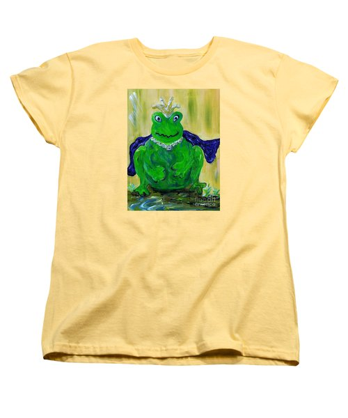 Women's T-Shirt (Standard Cut) featuring the painting King For A Day by Eloise Schneider