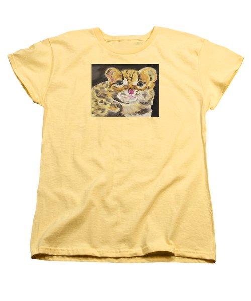 Peek A Boo Kitty Women's T-Shirt (Standard Cut) by Meryl Goudey