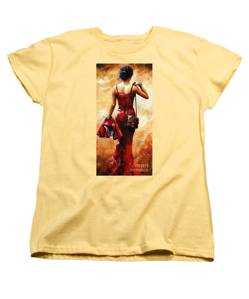 Lady In Red #25 Women's T-Shirt (Standard Cut) by Emerico Imre Toth