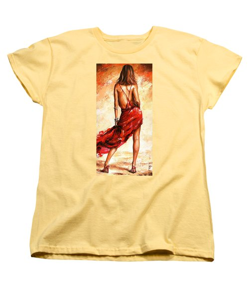 Lady In Red 40 Women's T-Shirt (Standard Cut) by Emerico Imre Toth