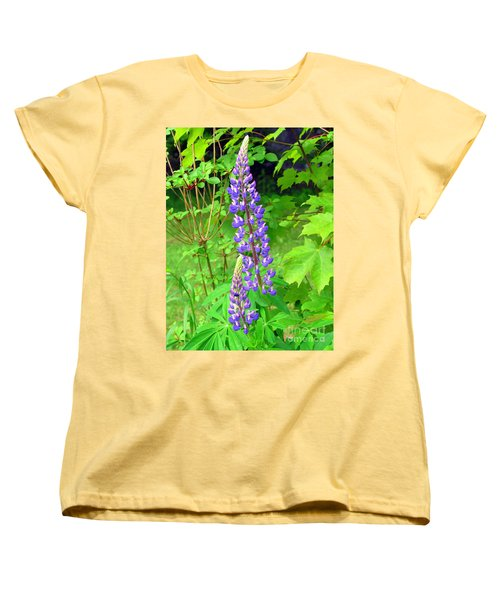 Lady Lupine Women's T-Shirt (Standard Cut) by Elizabeth Dow