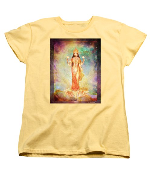 Lakshmi Floating In A Galaxy Women's T-Shirt (Standard Cut) by Ananda Vdovic