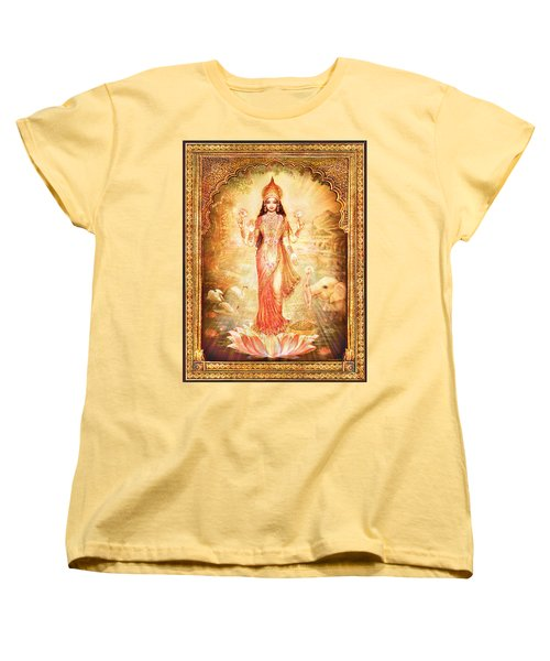 Lakshmi Goddess Of Fortune With Lighter Frame Women's T-Shirt (Standard Cut) by Ananda Vdovic