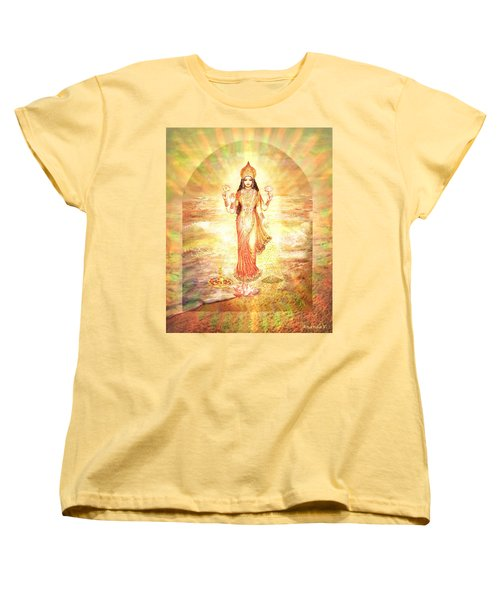Lakshmis Birth From The Milk Ocean Women's T-Shirt (Standard Cut) by Ananda Vdovic