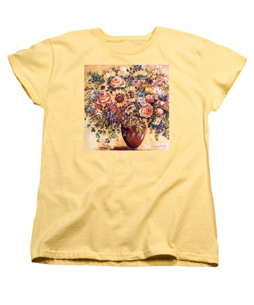 Late Summer Bouquet Women's T-Shirt (Standard Cut) by Alexandra Maria Ethlyn Cheshire