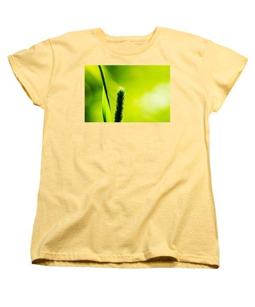 Let World Be Green Women's T-Shirt (Standard Cut) by Alexander Senin