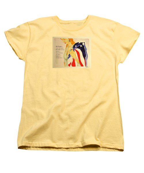 Women's T-Shirt (Standard Cut) featuring the painting The Divorce Of Liberty by Rand Swift