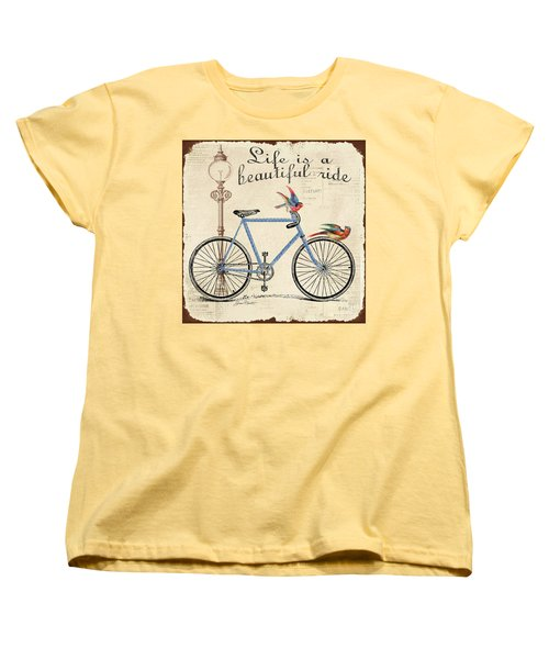 Life Is A Beautiful Ride Women's T-Shirt (Standard Cut) by Jean Plout