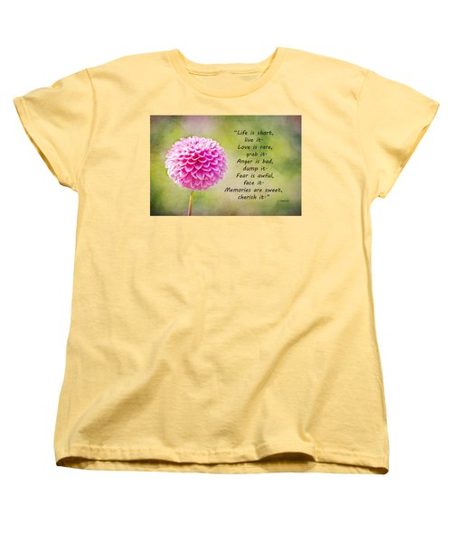 Life Is Short Women's T-Shirt (Standard Cut) by Trish Tritz