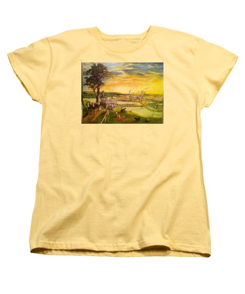 light2 - Shadows Women's T-Shirt (Standard Cut) by Mary Ellen Anderson