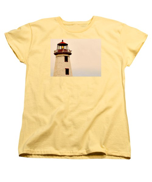Lighthouse Beam Women's T-Shirt (Standard Cut) by Steve Archbold