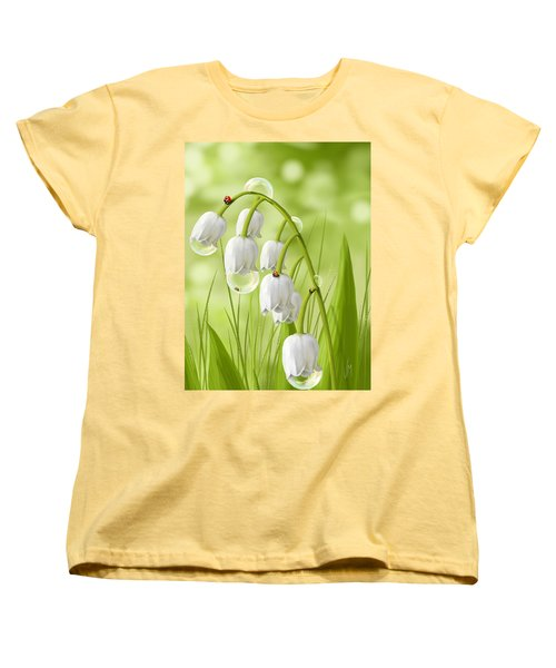 Lily Of The Valley Women's T-Shirt (Standard Cut) by Veronica Minozzi