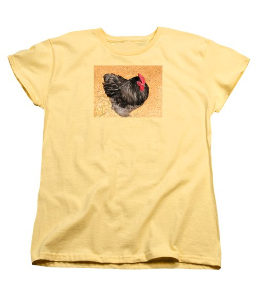 Women's T-Shirt (Standard Cut) featuring the photograph Live Chicken - 2011 Houston Livestock Show by Connie Fox