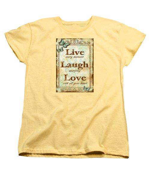 Live-laugh-love Women's T-Shirt (Standard Cut)