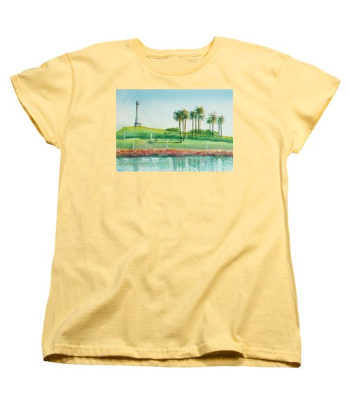 Long Beach Lighthouse Women's T-Shirt (Standard Cut) by Debbie Lewis