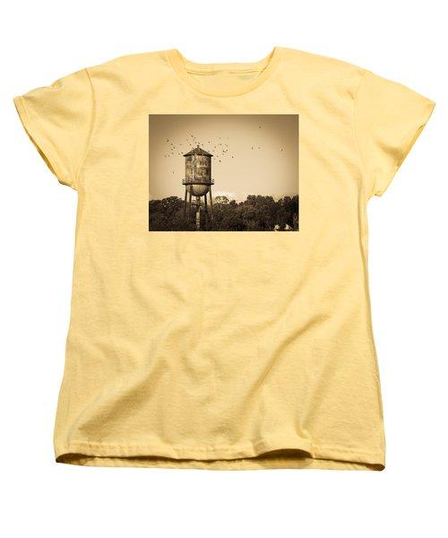 Loudon Water Tower Women's T-Shirt (Standard Cut) by Melinda Fawver