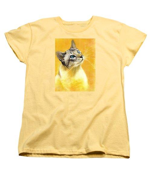 Lynx Point Siamese Women's T-Shirt (Standard Cut) by VLee Watson
