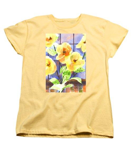 Women's T-Shirt (Standard Cut) featuring the painting Magnolias by Kip DeVore