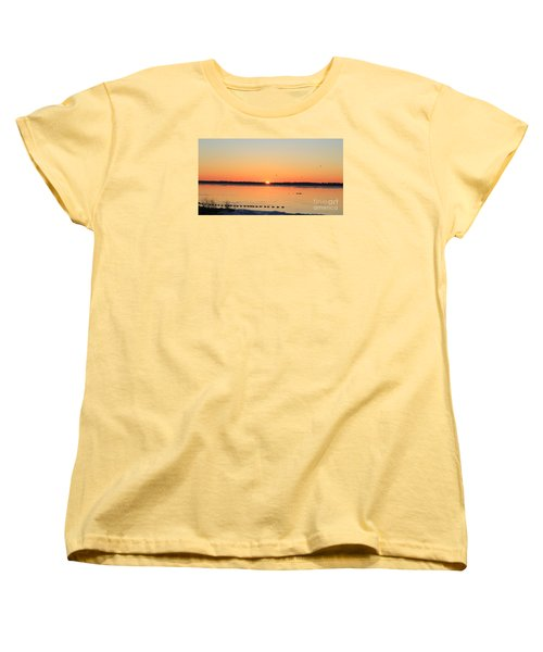 Women's T-Shirt (Standard Cut) featuring the photograph Mallards At Sunrise by David Jackson