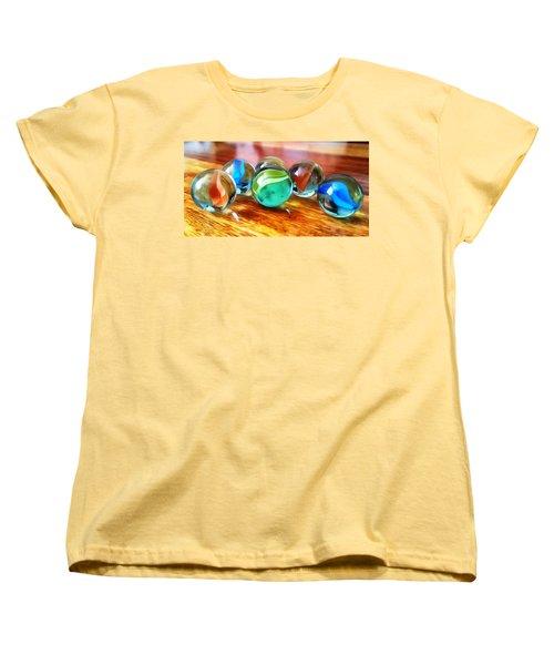 Marble Ducks Women's T-Shirt (Standard Cut) by Isabella F Abbie Shores FRSA